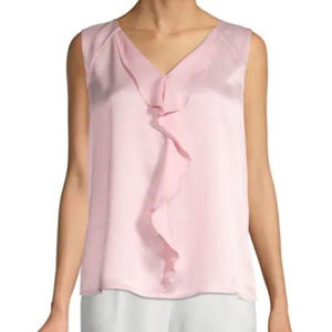 NWT Sleeveless Ruffle Blouse pink L